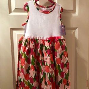 Joe and Ella girls dress with tulip pattern